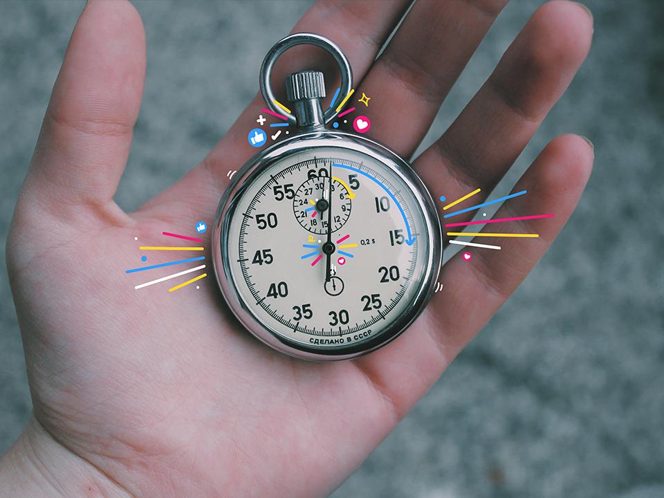 A stopwatch, representing the Google Core Web Vitals update
