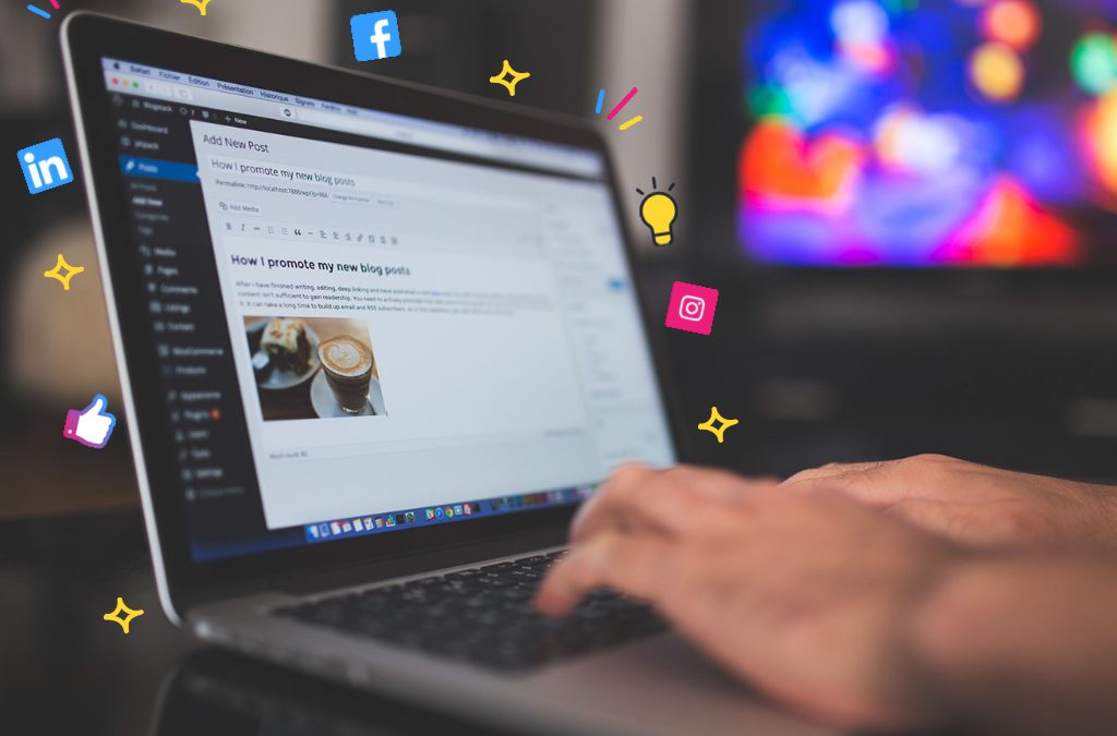 Content marketing on a laptop